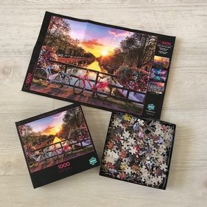 1000 Pcs Jigsaw Puzzle Photo Cycling in Amsterdam
